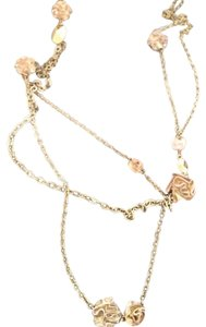 Dior Christian Dior Multistrand Rosette Floral Necklace