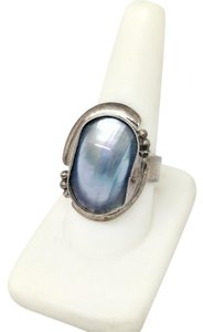 DeWitt's Sterling Silver Ring 8.6 grams Size 8 3/4 1 Mother of Pearl Stone