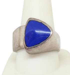 DeWitt's Sterling Silver Ring 18.7 grams Size 10 1/4 with Blue Lapis
