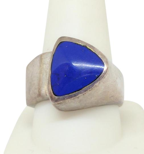 DeWitt's Sterling Silver Ring 18.7 grams Size 10 1/4 with Blue Lapis Image 0