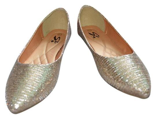 Preload https://img-static.tradesy.com/item/20503068/gold-glitter-ballet-flats-size-us-95-regular-m-b-0-1-540-540.jpg
