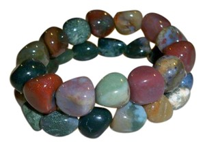 Amy's Treasure Box Gemstone Agate Stretch Bracelets