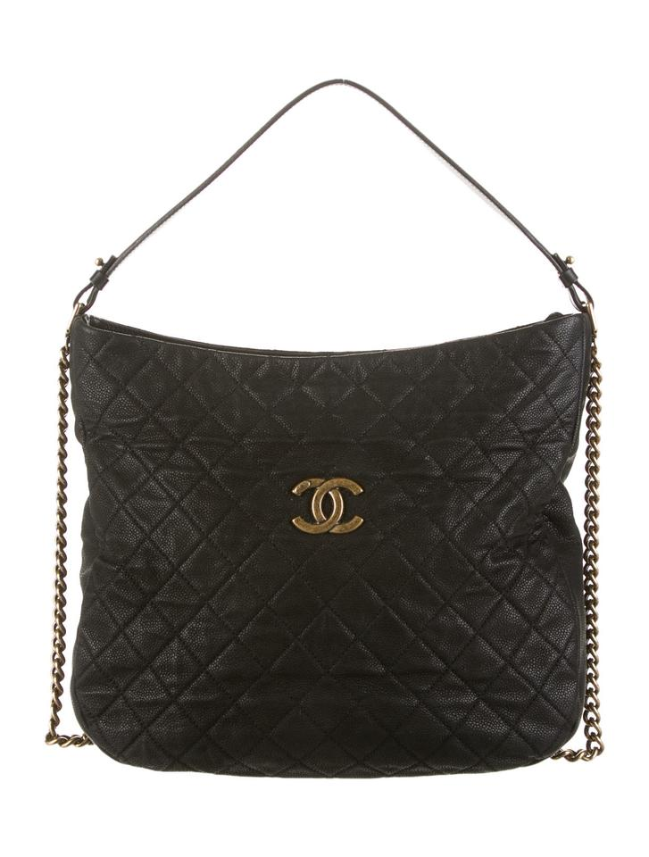 b1b4aa36babf Chanel Hobo Black Leather Bag 20503123 | Stanford Center for ...