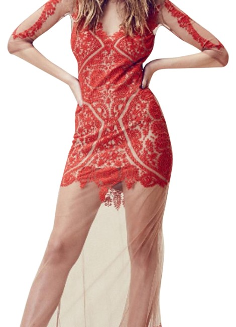 Item - Red Lotus Maxi Long Night Out Dress Size 6 (S)