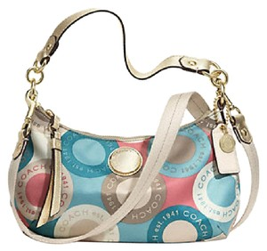 Coach Sateen Leather Signature Limited Edition Cross Body Bag
