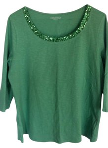 Coldwater Creek T Shirt Green