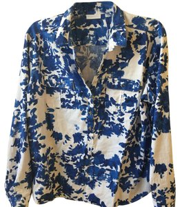 New York & Company Top blue and white