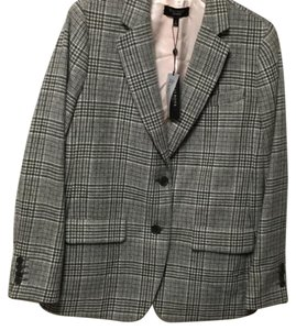Talbots Gray plaid Blazer