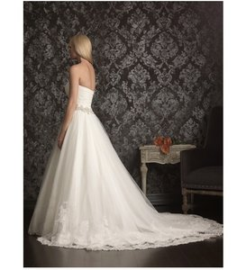 Allure Bridals White Wedding Dress Size 4 (S)