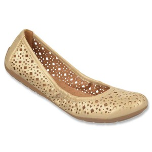 Naturalizer Ballet Shiny Cutout Gold Flats
