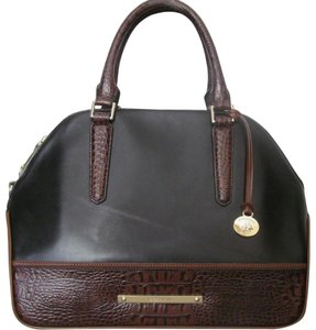 Brahmin New With Tag Satchel in BLACK TUSCAN TRI-COLOR