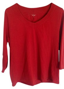 Coldwater Creek T Shirt red