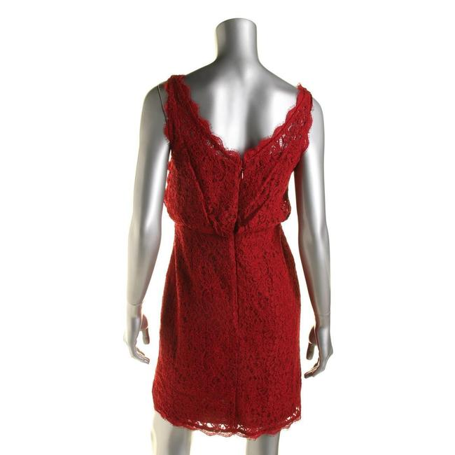 Adrianna Papell Lace Wedding Guest Bridesmaid Dress Image 1