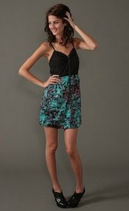 Sugarlips short dress Black with print bottom on Tradesy