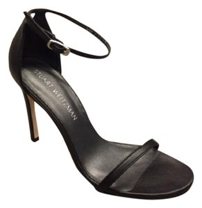 Stuart Weitzman Nudistsong Black Leather Sandals