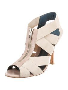 Sergio Rossi Caged Nude Ivory Sandals