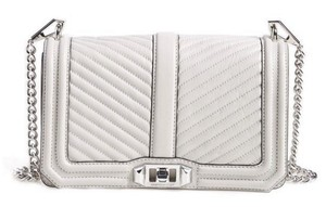 Rebecca Minkoff Chevron Love Silver Hardware Cross Body Bag