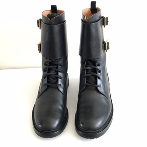 Tory Burch Lukas Combat Lace-up Black Boots