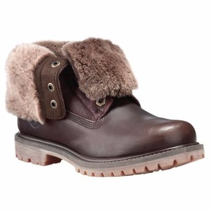 Timberland Shearling Leather Dark Brown Boots