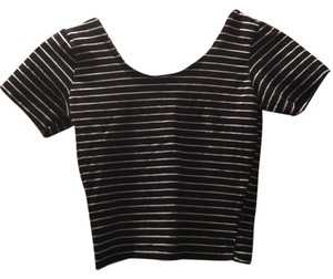American Apparel T Shirt black and white