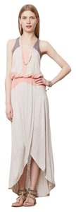 Taupe, Peach and Mauve Maxi Dress by Anthropologie Colorblock Long Summer