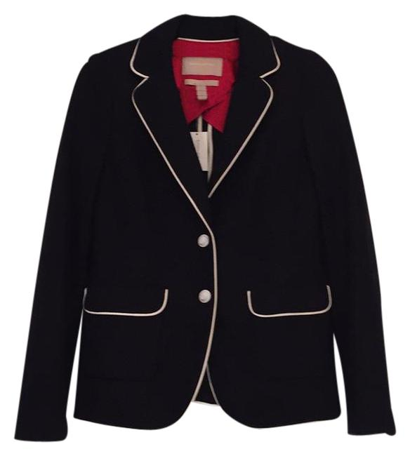 Item - Navy and White with Red Silk Lining. Blazer Size 4 (S)
