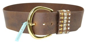 Guess By Marciano Guess Marciano Studded Leather Brown Belt Wide Hip Funky Size Small