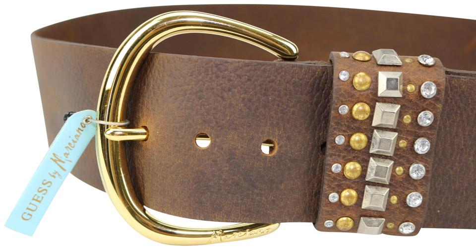 Guess By Marciano Brown Size Small Studded Funky Belt - Tradesy 71b5170f5d8