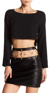 Versace Crop Anthony Vaccarello Belted Shirt Top