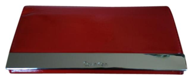 Item - Red and Silver Clutch Patent Wallet