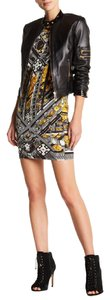 Versace short dress Long Sleeve Balck Gold on Tradesy