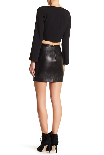 Versace Crop Anthony Vaccarello Shirt Anthony Vaccarello Top BLACK Image 1