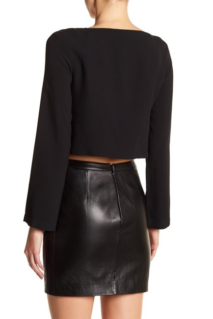 Versace Crop Anthony Vaccarello Shirt Anthony Vaccarello Top BLACK Image 2