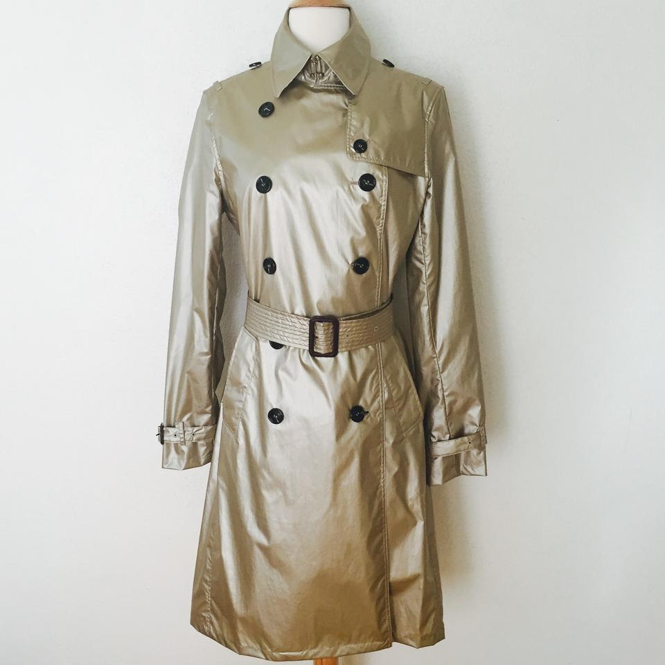 burberry metallic nylon trench trench coat on tradesy. Black Bedroom Furniture Sets. Home Design Ideas