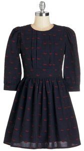 Modcloth short dress BLUE Count The Chapters on Tradesy