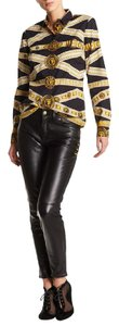 Versace Leather Jeans Black Pants