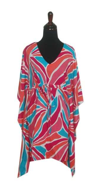 Item - Colorful Ladies Short Sleeve Coverup S/M Tunic Size 6 (S)