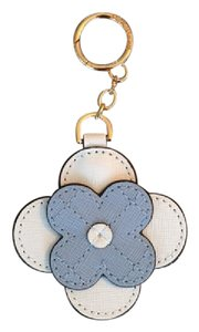 Michael Kors NWT Leather Flower Key Chain or Bag Charm