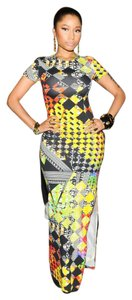 Maxi Dress by Versace Pattern Maxi Slit