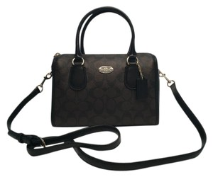 Coach Bennett Signature Satchel in Brown/Black