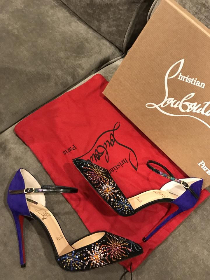 90829473326 Christian Louboutin Multicolor Rivierina On Fire Works Crystal ...