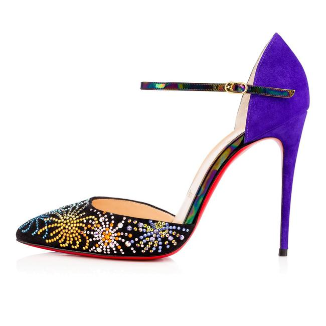Item - Multicolor Rivierina On Fire Works Crystal Studded Sandals Size EU 37.5 (Approx. US 7.5) Regular (M, B)