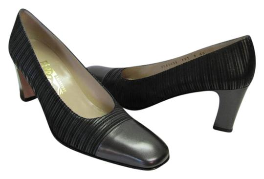 Preload https://img-static.tradesy.com/item/20504325/salvatore-ferragamo-black-aaaa-width-leather-and-fabric-very-good-condition-pumps-size-us-8-narrow-a-0-1-540-540.jpg