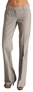 Theory Wool Stretch Rare Trousers Flare Pants Beige