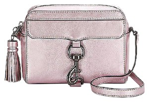 Rebecca Minkoff Metallic Leather Mab Camera Cross Body Bag