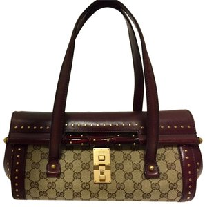 Gucci Monogram Leather Canvas Shoulder Bag