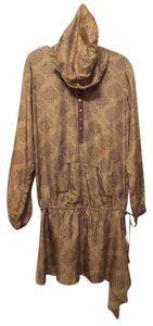 4 Love and Liberty Silk Hoodie Dress Johnny Was Oversized Tunic