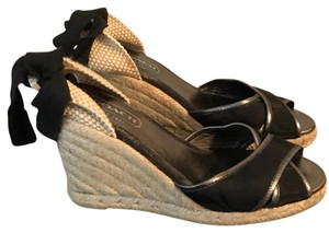 Coach Black Wedges
