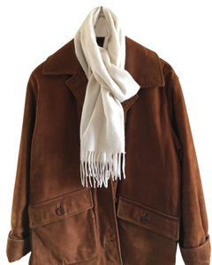 Coach Suede Coat Chestnut Brown Leather Jacket