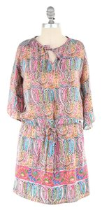 Anthropologie short dress Colorful Washed Silk 3/4 Sleeve on Tradesy